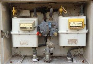 Reguladores de gas en Armario de contadores