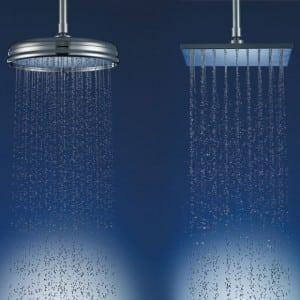 Agua caliente para dos duchas a la vez