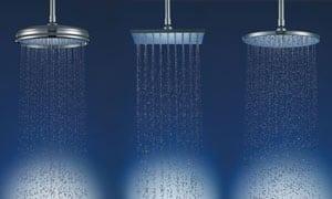 Agua caliente duchas