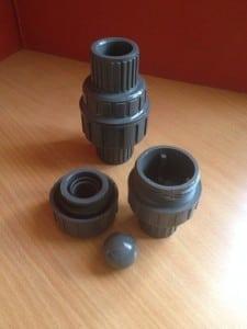 Válvula anti-retorno de PVC