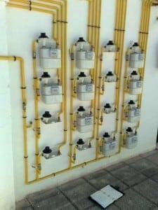 Batería de contadores de gas