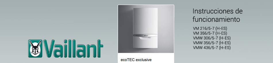 Manual uso Vaillant ecoTEC exclusive