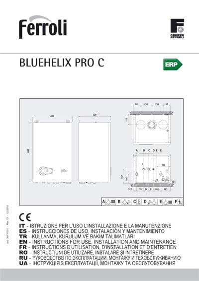 Manual uso Caldera Ferroli Blue Helix Pro