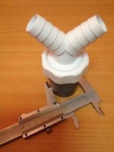 Pieza de PVC doble desagüe para fuga de condensados