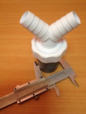 Pieza de PVC doble desagüe