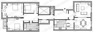 Plano vivienda calefacción Caldera Thelia Condens F 25