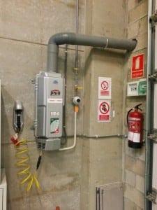 Compresor Gas Vehicular instalado en la empresa