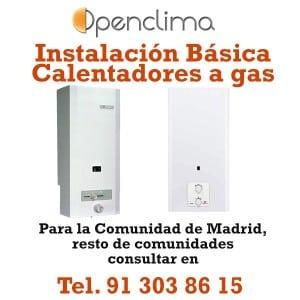 Instalación Calentadores a gas