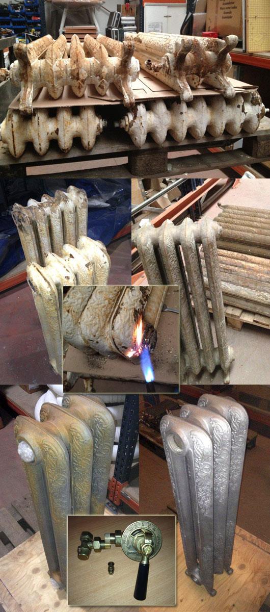 Proceso de restauración de radiadores de epoca